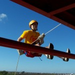Rappelling at MMA Summer Camp