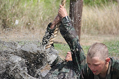 MMA Summer Camp Mud Obstacle Course